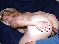 Big blonde bbw Solsa has a matching huge appetite for fucking. In this scene two guys satisfied her in this awesome threesome cock cramming. They made her strip off her clothes and examine her hot curves and crammed her eager holes with their shaft.